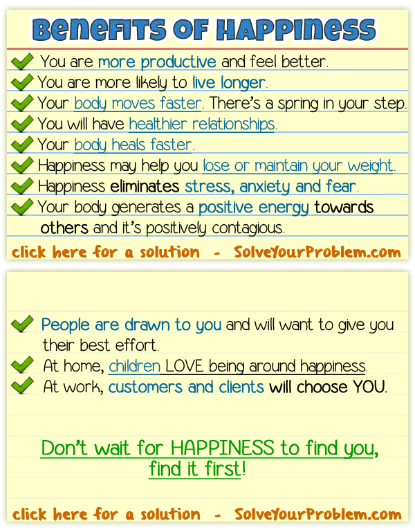 The Benefits of Happiness
